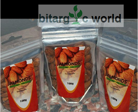 Almond Nuts 3 Packs Of 100g