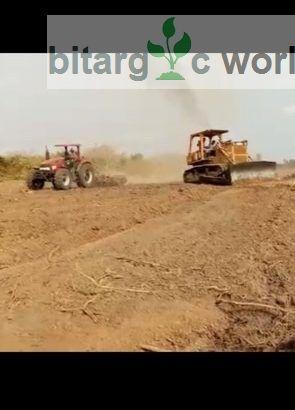 Farmland clearing and land preparation (plough and Harrow)